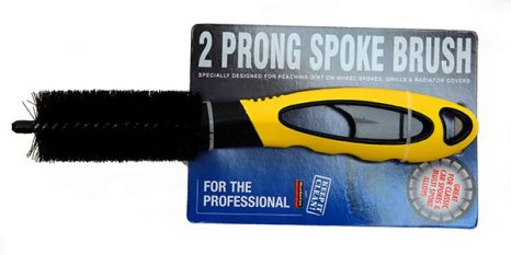 DOUBLE PRONGED SPOKE/WIRE WHEEL BRUSH